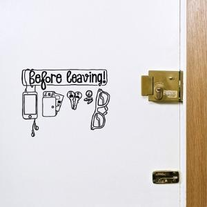 before leaving checklist sticker: Wall Photo, The Doors, Leaves Checklist, Funny Pictures, Check Lists, Wall Stickers, Memorial Mornings, Checklist Stickers, Wall Design