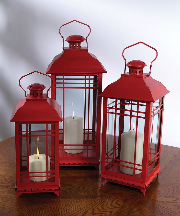Look at this Red Classic Lantern Set on #zulily today!
