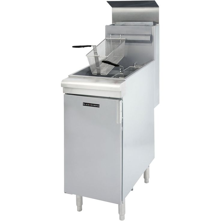 Commercial Kitchen Stainless Steel 45-50 lb Deep Fryer 120,000 BTU NG