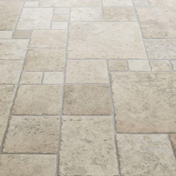 Softstep 537 Toucan Stone Tile Vinyl Flooring Kitchen