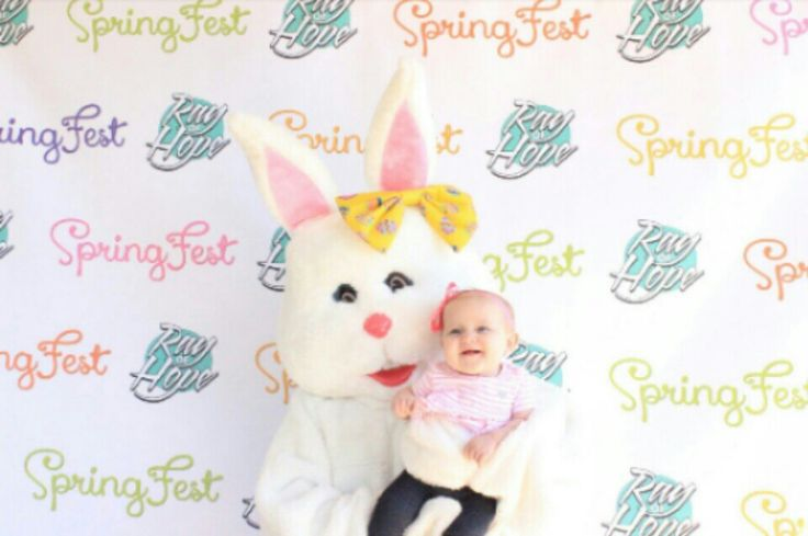 Easter bunny and baby