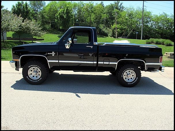 1987 Chevrolet Silverado 4x4 perfect size wheels tires and ...