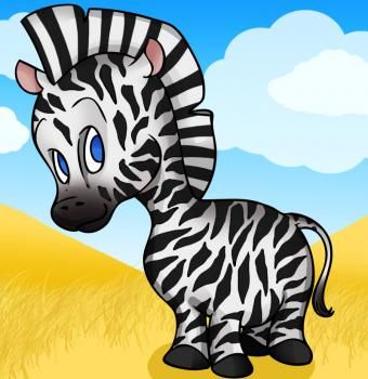 zebraDrawing Tutorials, Zebras Stuff, Cartoons Zebras, Cartoons Animal, Baby Animal, Jordyn Drawing, How To Draw, Hippo Drawing, Online Drawing