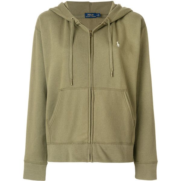 Polo Ralph Lauren zip front hoodie ($145) ❤ liked on Polyvore featuring tops, hoodies, green, polo ralph lauren hoodie, embroidered hoodies, hooded sweatshirt, polo hooded sweatshirt and polo ralph lauren hoodies
