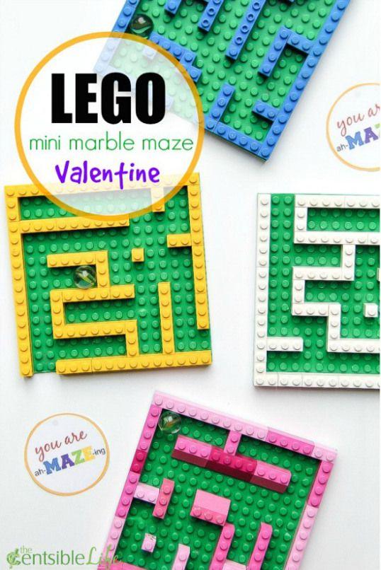 LEGO Mini Marble Maze Valentine for Kids