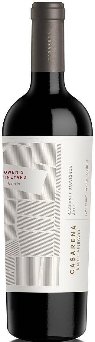 """""""SV Owen's Vineyard"""" Cabernet Sauvignon 2013 - Bodega Casarena, Luján de Cuyo, Mendoza---------------Terroir: Agrelo--------Crianza: 12 meses en barricas de roble francés de 1er. uso"""