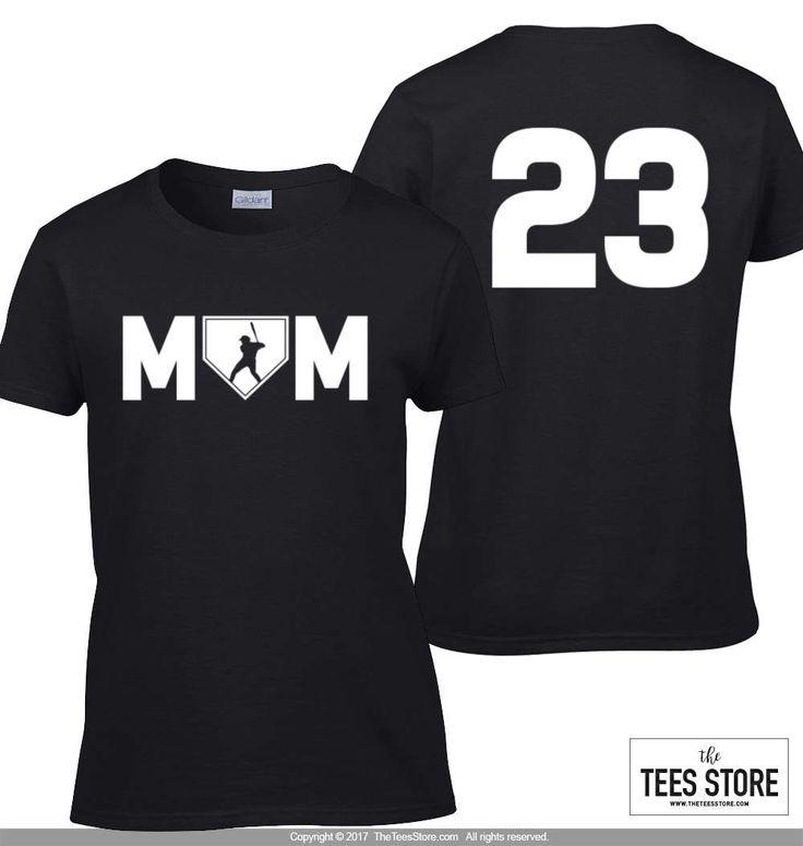 Baseball Mom t-shirt / Personalized Mom t-shirt / Custom Mom Baseball Shirt 612 by TeesStore on Etsy