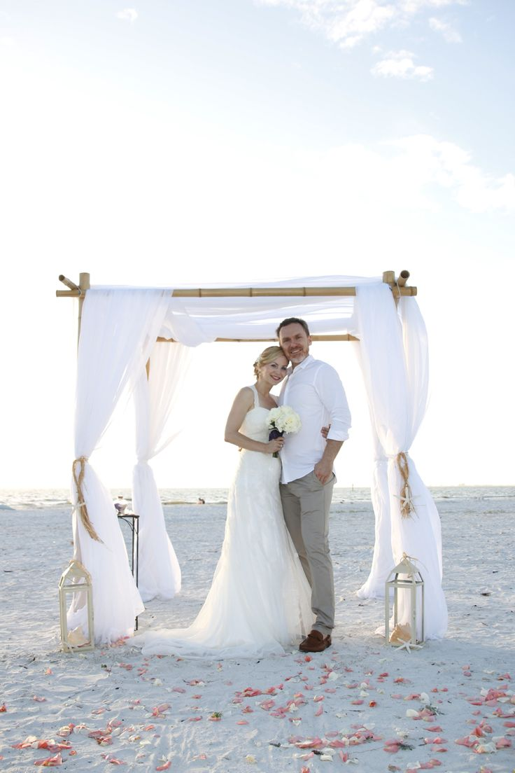 Our Seaside Romance Package Is Stunning At This Sunset Ft Myers Beach Wedding