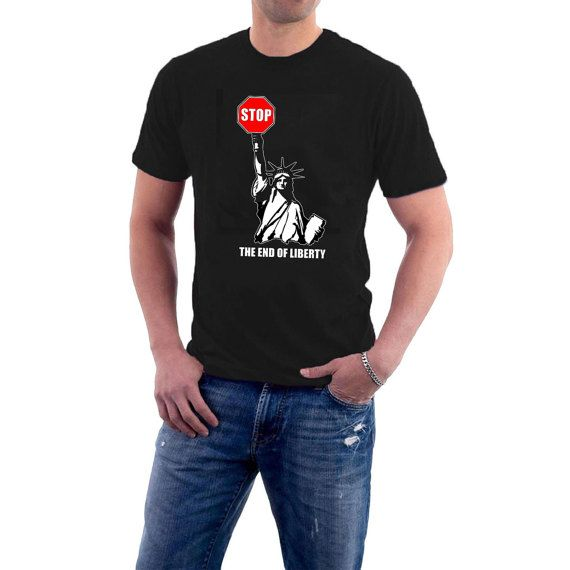 Is this the shape of #USA to come ? Statue of Liberty with a STOP sign ? Original and Exclusive © design from Sillytees Available in a range of sizes. More colours to come. ... #politics #election #republican #usa #president #immigration #muslim #refugees #borders