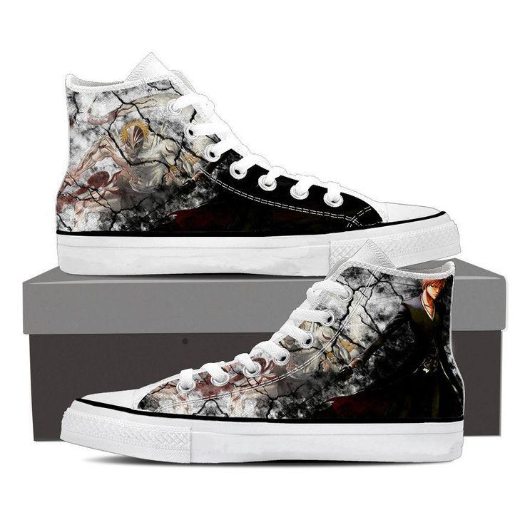 Bleach Ichigo Zangetsu Full Form Hollow Cool Pattern Converse Shoes    #Bleach #Ichigo #Zangetsu #Full #Form #Hollow #Cool #Pattern #Converse #Shoes