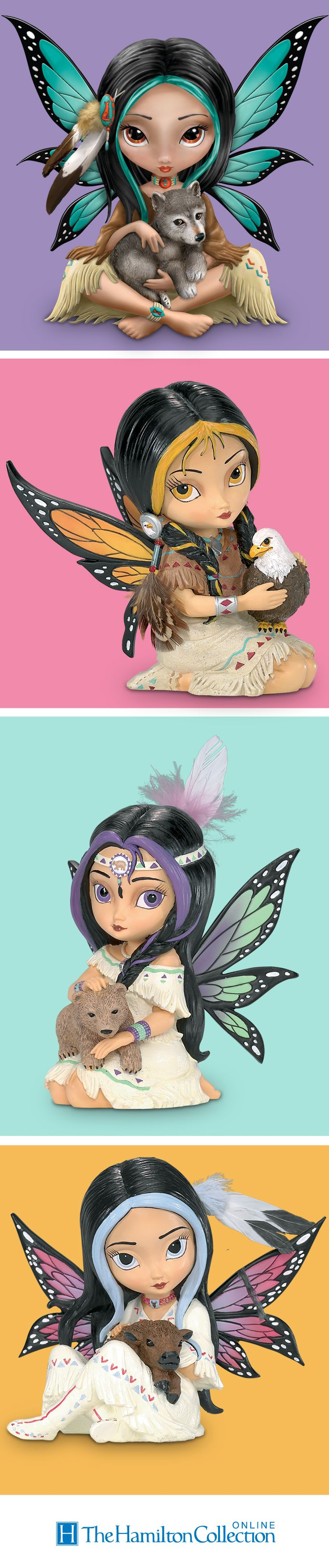 Find your spirit animal - or animals - with these Jasmine Becket-Griffith fairy figurines!