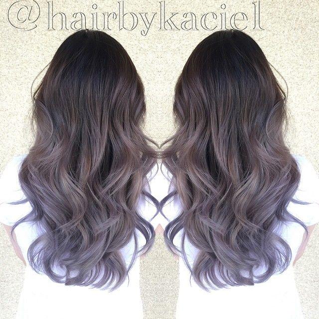 Lavender grey ombré