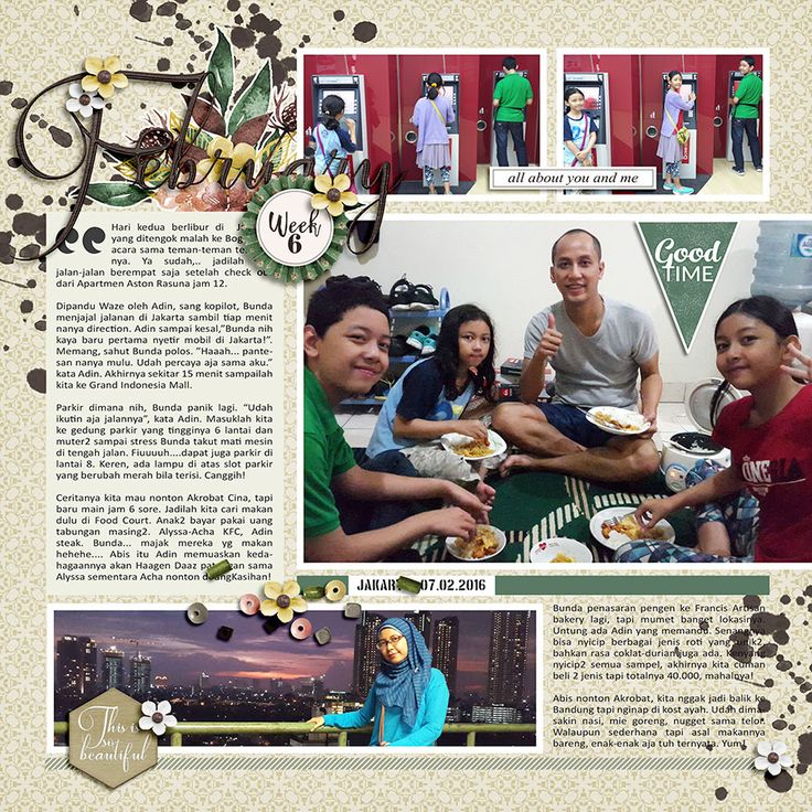 "Template : A Great Adventure 2 by Anita Designs. Kit : Hello February by Anita Designs. Word Art ""Good Time : Count on Me by Anita Designs."