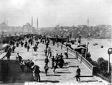 The Galata Bridge. c 1880-1893.