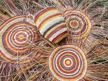 indiginous hand woven baskets