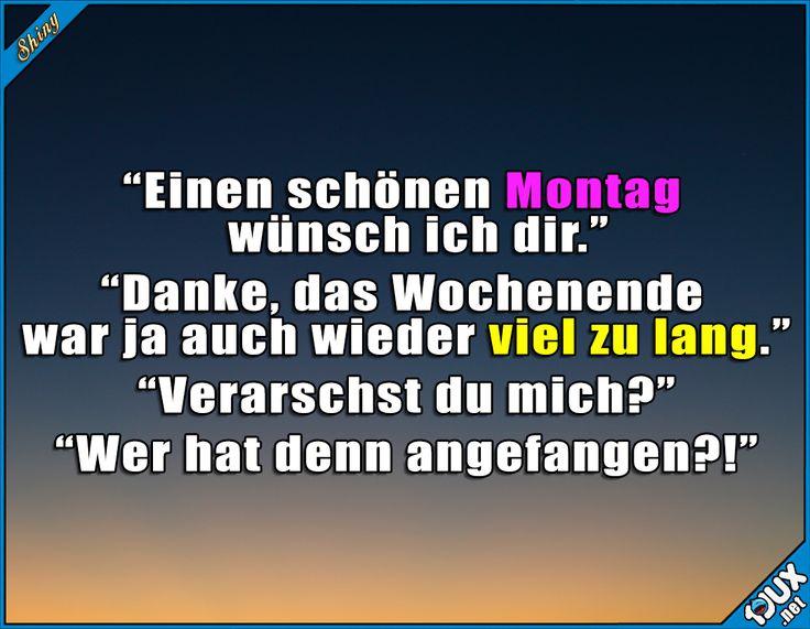 Von wegen schöner Montag... #Montag #Wochenstart #nurSpaß #Humor #lustigeSprüche #lachen #Jodel #Statusbilder