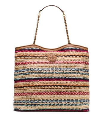 Tory Burch Marion Woven Slouchy Tote