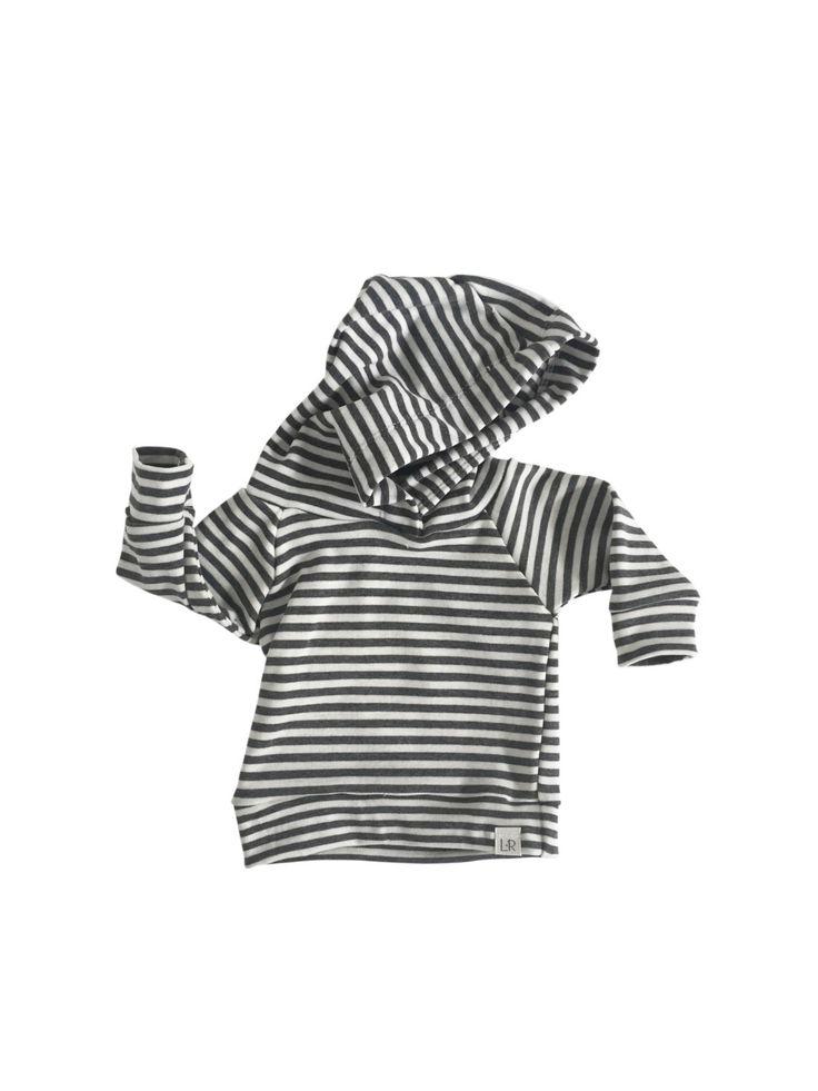 grey stripe hoodie, gender neutral hoodie, jumper outfit hoodie, baby jogger outfit, baby girl sweatshirt, modern baby clothing by ShopLuluandRoo on Etsy https://www.etsy.com/listing/210546724/grey-stripe-hoodie-gender-neutral-hoodie