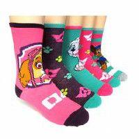 Mi-chaussettes La Pat' Patrouille pour filles en paq. de 5 paires 10-13