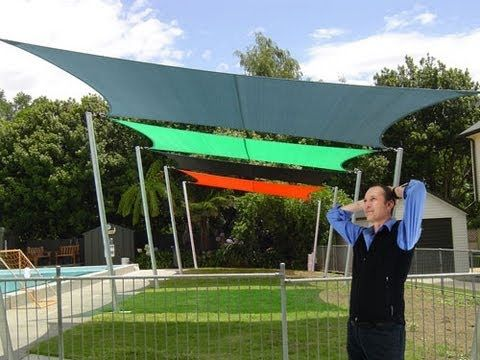 Mistakes to avoid with shade sails.  Make sure that it is square and your posts are deep enough.