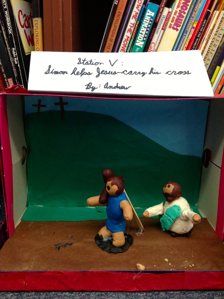 A Lenten Activity Stations Of The Cross Dioramas And