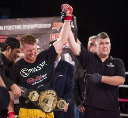 "#CrystalGlass sponsored athlete & Maximum Fighting Championships Middleweight champion ""Smilen"" Sam Alvey wins by KO last night in his UFC bout in Australia!!!  http://www.crystalglass.ca/ https://www.facebook.com/crystalglassltd https://twitter.com/CrystalGlassLTD https://www.youtube.com/user/crystalglassltd"
