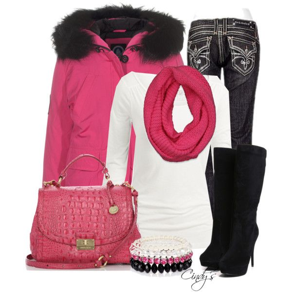 pink and black for winter...