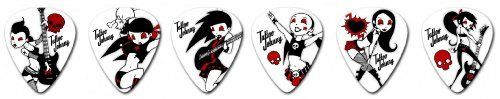 Clayton Tattoo Johnny Rock Chicks Guitar Picks - 1 Dozen Medium by Clayton. $4.99. These picks are for girls who know how to rock and for the guys that love them! Each features a different image of a rock'n girl, printed with fine detail on our White Delrin material for not only good looks, but great sound, too!
