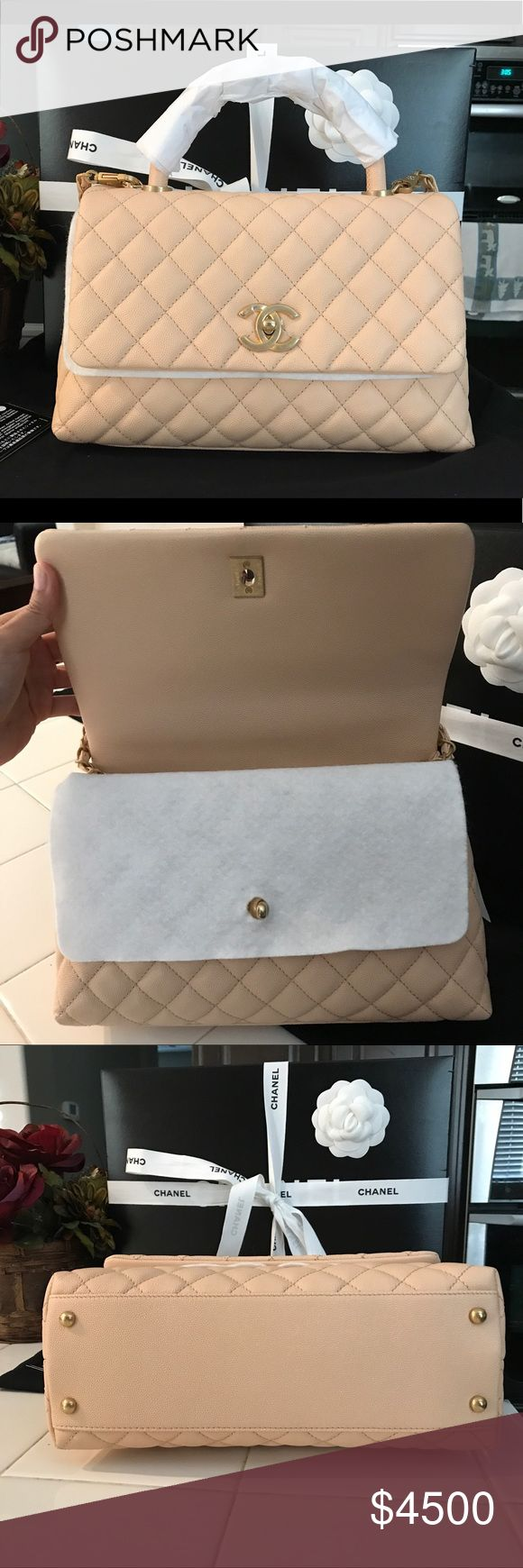 Bnwt chanel coco handle small beige gold hw Brand new complete set. CHANEL Bags