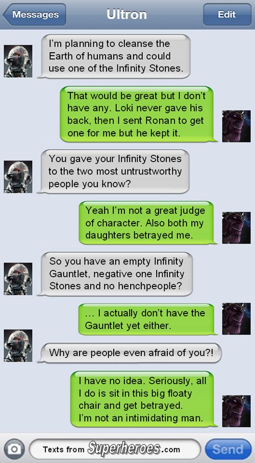 These Texts From Superheroes Are Even Funnier After AVENGERS: AGE OF ULTRON — GeekTyrant