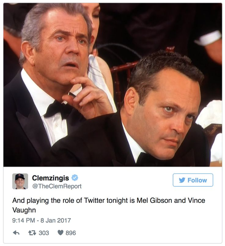 My respect for Mel Gibson and Vince Vaughn just jumped up several notches!   Already two top actors in their field, they also appear to have common sense. While Meryl Streep was busy insulting our President-elect Donald Trump at the Golden Globes last night, Gibson and Vaughn were having none of it.  They now join a list of other common-sense conservatives in Hollywood like Scott Baio, John Voigt, Mike Tyson, Chuck Woolery, and others! The internet immediately took notice and many…