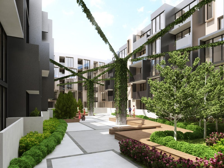 Central atriums or internal gardens a growing trend | secluded and private.  http://www.offtheplans.com.au/new-apartments/detail/188/atria-apartments-hawthorn/