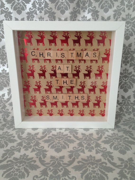 Personalised Christmas Scrabble Frame by ScrabbleFramesbyVick