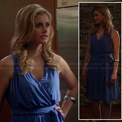 Taylor's blue wrap dress on Devious Maids. Outfit Details: http://wornontv.net/19029/