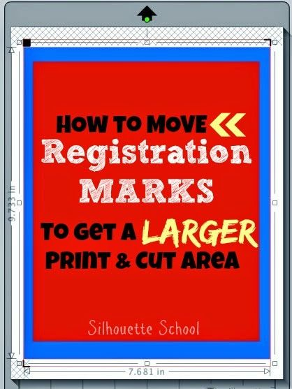 How To Move Registration Marks To Enlarge The Print Area