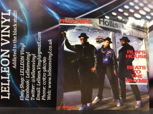 "Run DMC Run's House 12""Single Vinyl LONX177 A4/B4 Rap Hip Hop 80's Music:Records:12'' Singles:Rap/ Hip Hop:Hip Hop"