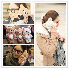 3D Cute Teddy Bear Cool Plush Toy Doll Case Cover For Various Sony Mobile Phones #mobile