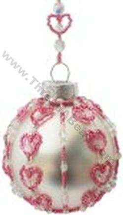loved up large christmas ornament bead pattern by threadabead