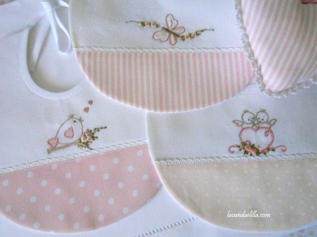 Beautifully embroidered baby bibs