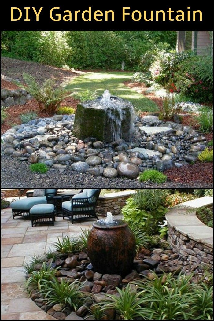 Want a fountain in your garden but