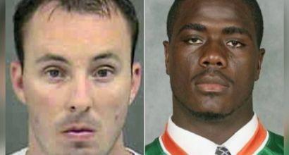 Image: Officer Randall Kerrick, left, and Michael Ferrell (Screen capture)