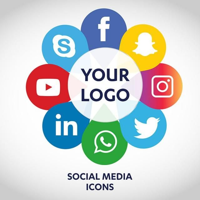 Social Media Icons, Social, Media PNG and Vector with