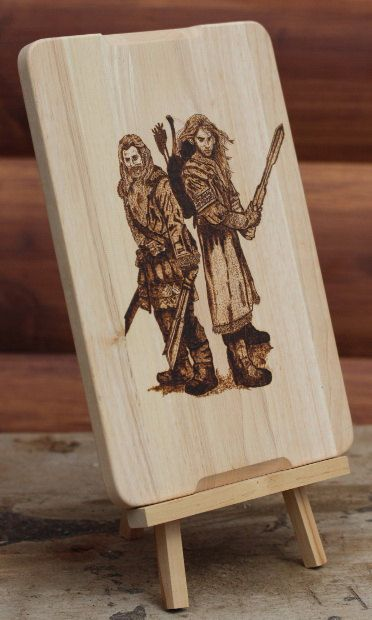 The Hobbit. Heirs of Durin. Pyrography wooden by PyroAndGraphy