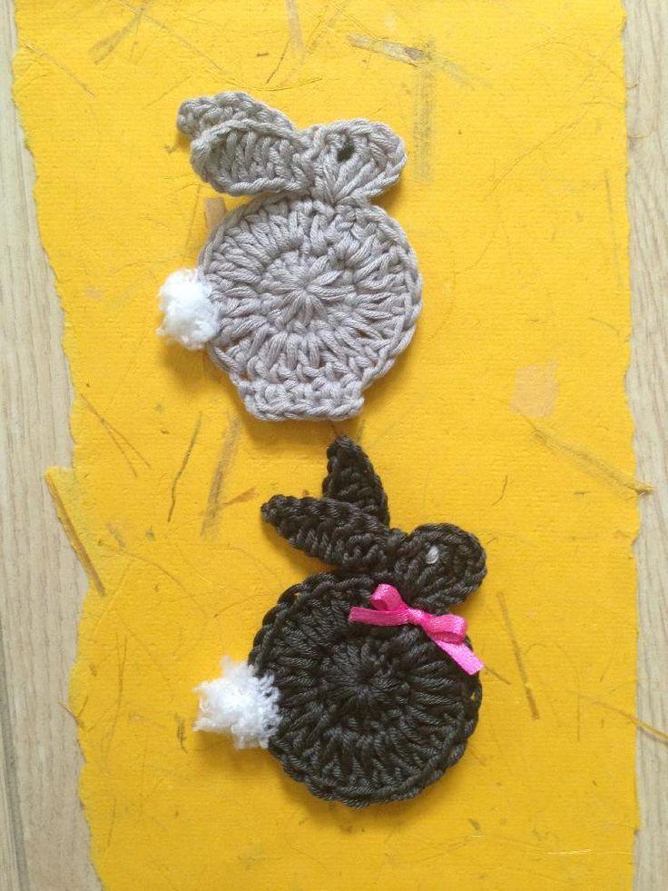Chick & Bunny crochet appliqué