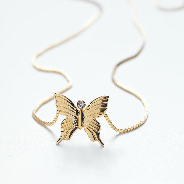 Butterfly Halsband Mother, S, Guld, Carolina Gynning