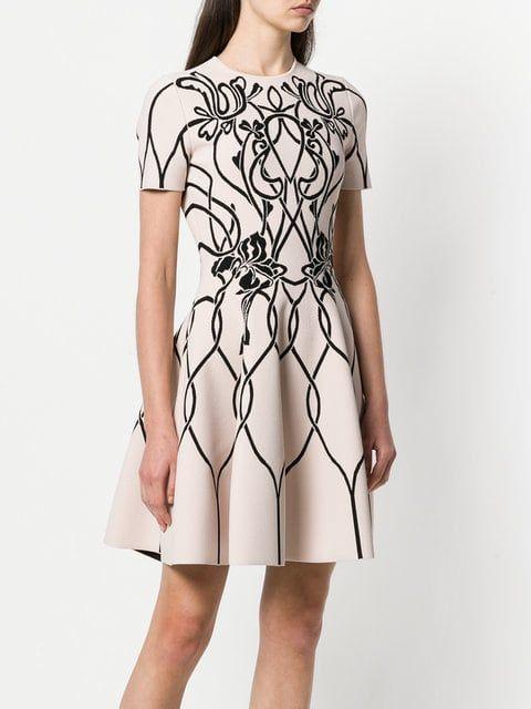 1e73a11f76 Alexander McQueen jacquard knitted dress Knit Dress, Art Nouveau, Fashion  Art, Dresses For