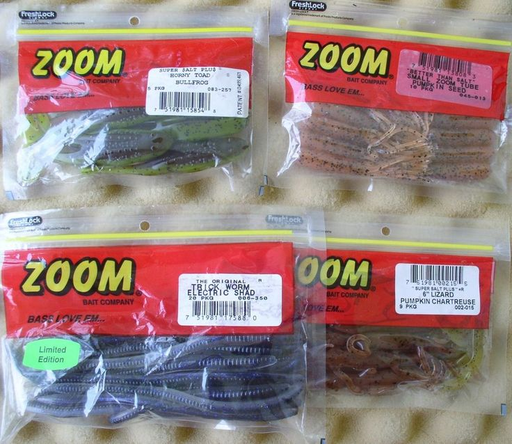 zoom lures,i use the super fluke in mardi gras color on lm bass, Soft Baits