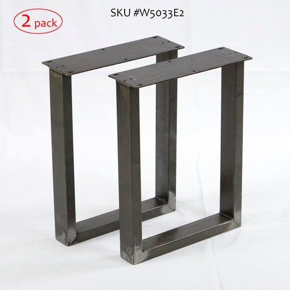 H 16 Inch W5033e2 Bench U Legs Or Narrow Coffee Table 1 Etsy In 2020 Narrow Coffee Table Coffee Table Legs Steel Table Legs