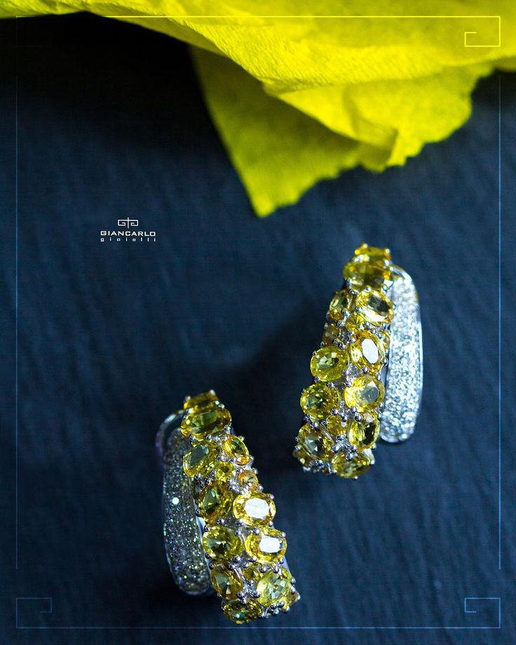 Featuring a beautiful combination of yellow sapphires and white diamonds these earrings are the epitome of regal elegance and femininity! Pair these exqusite earrings with your elegant evening dress or business suit for the perfect accent.  18K white gold (750 stamped) weigh  96 gr. Diamonds 054 ct./86 pcs. Yellow sapphire. 1018 ct./34 pcs.  #jewellery #giancarlogioielli #ring #bracelet #pendant #necklace #earrings #beauty #vscogood #vscobaku #vscocam #vscobaku #vscoazerbaijan #instadaily…