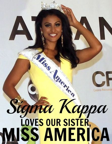 Congrats to Miss America 2014 Nina Davuluri! (Sigma Kappa, University of Michigan)
